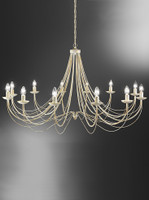 Franklite FL2172/12 Philly 12 light Cream Chandelier
