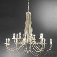 Franklite FL2172/16 Philly 16 light Cream Chandelier