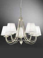 Franklite FL2172/5 Philly 5 light cream chandelier