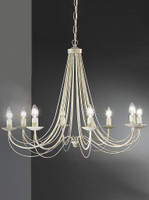 Franklite FL2172/8 Philly 8 light Cream Chandelier