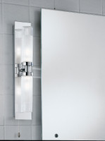 Franklite WB534 Bathroom 2 light wall light chrome switched