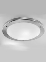 Franklite CF1221 Bathroom Ceiling Light Satin Nickel