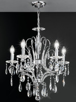 Franklite FL2156/5 Brocade 5 light crystal chandelier chrome finish
