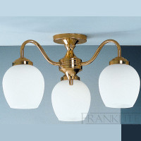 Franklite CO3709/715 Alba 3 Light Ceiling Light Brass