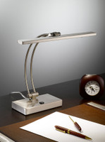 Franklite TL892 LED table lamp satin nickel