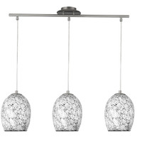 Searchlight 8069-3WH Crackle White Mosaic Glass Pendant Light