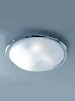 Franklite CF5017 chrome flush ceiling light
