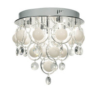 DAR CLO1350 Cloud 9 Light Polished Chrome Ceiling Light