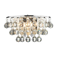 DAR PLU0950 Pluto Chrome 2 Wall Light Crystal 2 x 40W