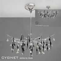 Diyas IL50416 Cygnet 12 Light Ceiling Pendant Polished Chrome