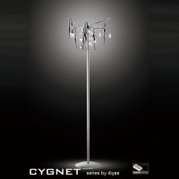 Diyas IL50418 Cygnet 6 Light Polished Chrome Floor Lamp