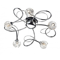Dar ZEL5450 ZELDA 5lt Chrome Ceiling Light