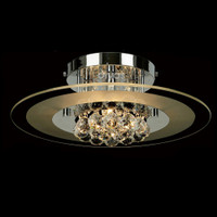 Diyas IL30021 Delmar 4 Light Chrome Asfour Crystal