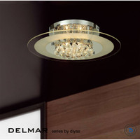 Diyas IL30022 Delmar 6 Light Chrome Asfour Crystal
