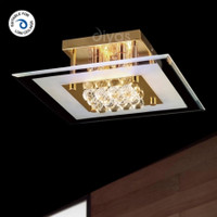 Diyas IL32023 Delmar 4 Light Gold Asfour Crystal
