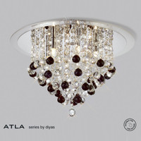Diyas IL30009BL ATLA 6 Light Crystal Ceiling Light