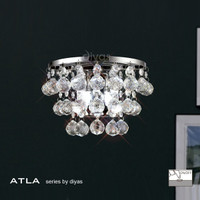 Diyas IL30014 ATLA 2 Light Crystal Wall Light