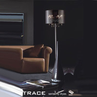 Diyas IL30463 Trace Polished Chrome Floor Lamp