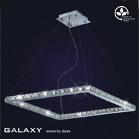 Diyas IL80039 Galaxy 36 Light Led Chrome Pendant