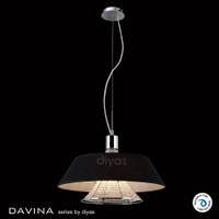 Diyas IL30041BL Davina 3 Light Black Pendant