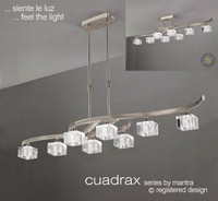 Mantra M2358 Cuadrax 8 Light Chrome Pendant