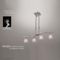 Mantra M0017 Keops 4 Light Satin Nickel Pendant