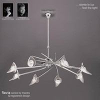 Mantra M0300 Flavia 8 Light Chrome Pendant