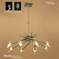 Mantra M0300AB Flavia 8 Light Antique Brass Pendant