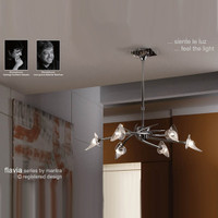 Mantra M0301 Flavia 6 Light Chrome Pendant