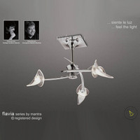 Mantra M0306 Flavia 3 Light Polished Chrome Semi-Flush Ceiling Light