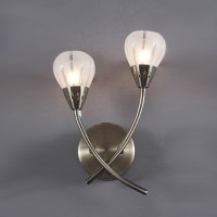 Dar VIL0975 Villa 2 Light Wall light ANTIQUE BRASS