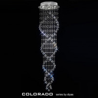 Diyas IL30785 6 Light Colorado Chrome/Crystal Ceiling Pendant