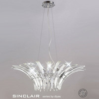 Diyas IL50443 Sinclair 8 Light Modern Crystal Pendant