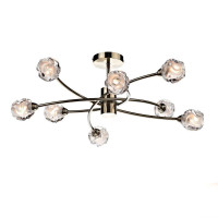 Dar SEA0875 Seattle 8 Light Semi-Flush Ceiling Light