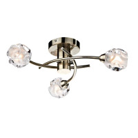 Dar SEA5375 Seattle 3 Light Semi-Flush Ceiling Light