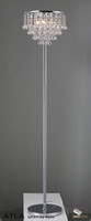 Diyas IL30029 Atla Crystal Floor Lamp Polished Chrome