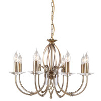Elstead AG8-AB Aegean Aged Brass 8 Light Chandelier