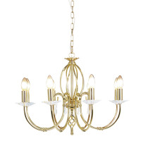 Elstead AG8-PB Aegean Polished Brass 8 Light Chandelier