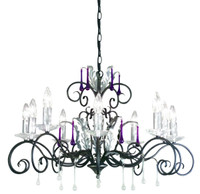 Elstead AML10-B/S Amarilli 10 Light Black/Silver Patina Chandelier