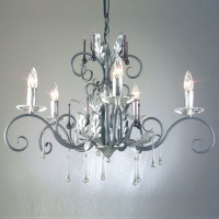 Elstead AML5-B/S Amarilli 5 Light Black/Silver Patina Chandelier