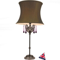 Elstead AML/TL-B/S Amarilli Black/Silver Table Lamp