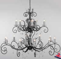 Elstead AML15-B/S Amarilli 15 Light Black/Silver Patina Chandelier