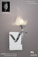 Mantra M0327/S Viena 1 light Polished Chrome Wall Light