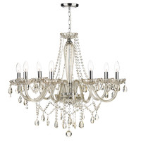 Dar RAP0806 Raphael 8 Light Chandelier Champagne