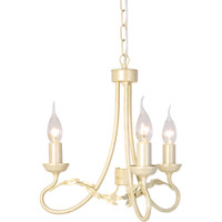 Elstead OV3 Olivia 3 Light Ivory Gold Chandelier