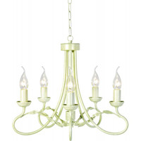 Elstead OV5 Olivia 5 Light Ivory Gold Chandelier