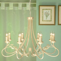 Elstead OV8 Olivia 8 Light Ivory Gold Chandelier