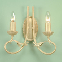 Elstead OV2 Olivia 2 Light Ivory Gold Wall Light