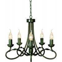 Elstead OV5 Olivia 5 Light Black Gold Chandelier