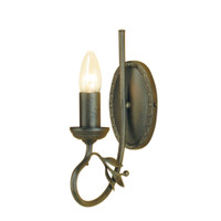 Elstead OV1 Olivia 1 Light Black Gold Wall Light